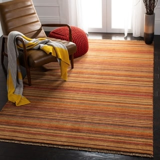 Safavieh Couture Hand-knotted Tibetan Fraukea Modern Wool Rug with Fringe
