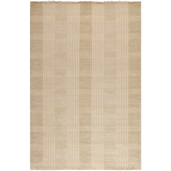 Safavieh Hand-knotted Tibetan Squares Beige Wool Rug (9' x 12')