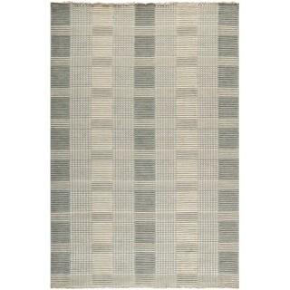 Safavieh Hand-knotted Tibetan Squares Grey Wool Rug (5'x 8')