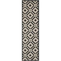 Safavieh Hand-Hooked Four Seasons Black/ Grey Polyester Runner (2'3 x 8')