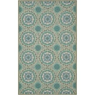Safavieh Hand-Hooked Four Seasons Mint Green/ Aqua Blue Polyester Rug (3'6 x 5'6)