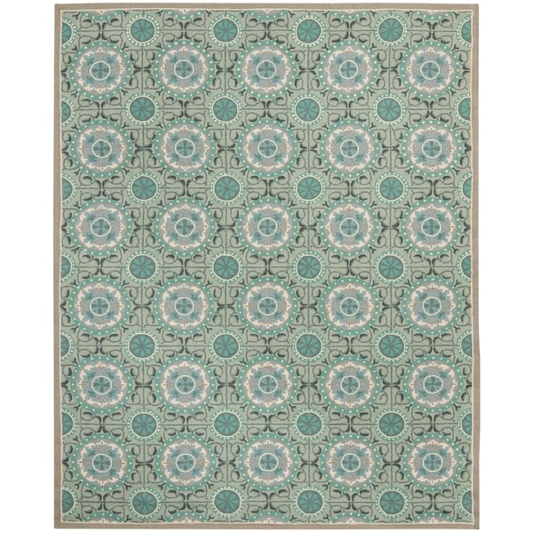 Shop Safavieh Hand Hooked Four Seasons Mint Green Aqua