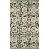 Safavieh Hand-Hooked Four Seasons Grey / Blue Polyester Rug - 3'6 x 5'6