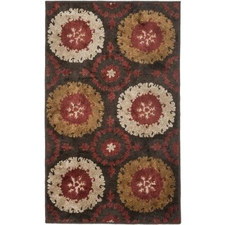 Safavieh Kashmir Traditional Brown Rug (8' x 10')