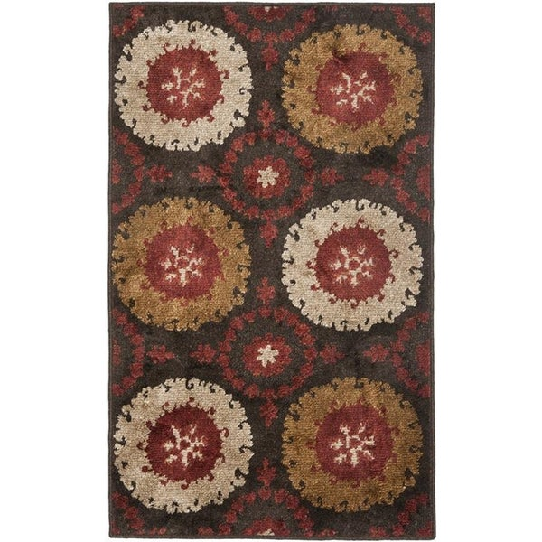 Safavieh Kashmir Brown/ Multi Rug - 8' x 10'