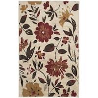 Safavieh Kashmir Ivory/ Multi Floral Rug - 3' x 5'