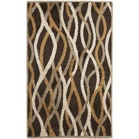 Safavieh Kashmir Brown Abstract Rug - 3' x 5'