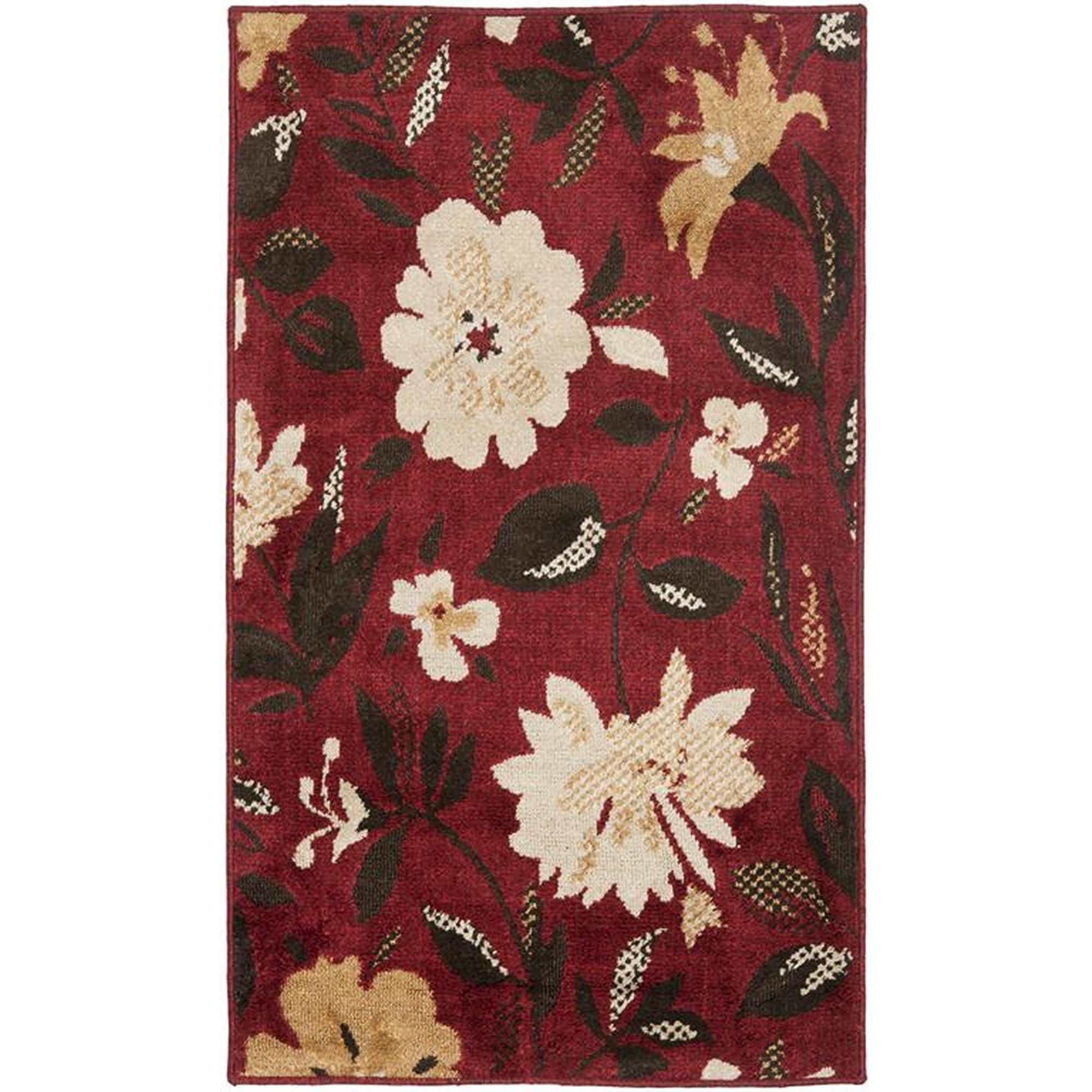 Safavieh Kashmir Red Floral Rug (8' x 10') (KAS112B-8), S...