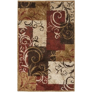 Safavieh Kashmir Scroll Panels Red/ Camel Rug (3'x5 )