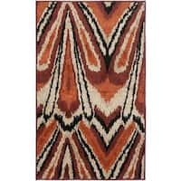 Safavieh Kashmir Orange Abstract Rug - 3' x 5'