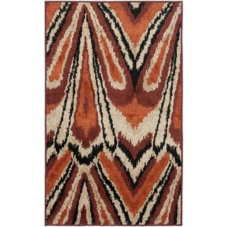 Safavieh Kashmir Orange Abstract Rug (8' x 10')