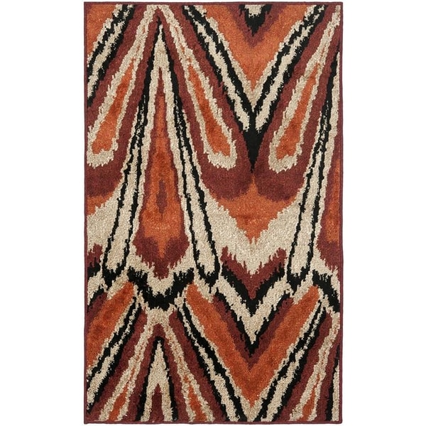 Safavieh Kashmir Orange Abstract Rug - 8' x 10'