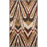 Safavieh Kashmir Camel/ Beige Abstract Rug - 5' x 8'