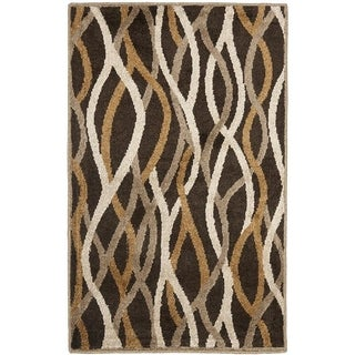 Safavieh Kashmir Brown Abstract Rug (8' x 10')