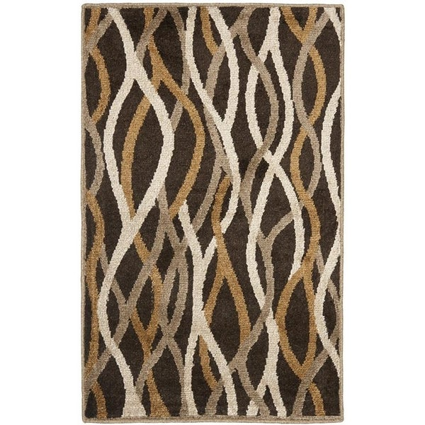 Safavieh Kashmir Brown Abstract Rug - 8' x 10'