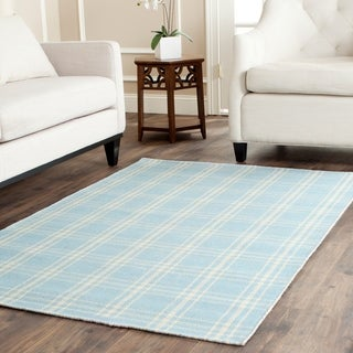 Safavieh Tapestry-woven Kilim Village Light Blue Wool Rug (4' x 6')