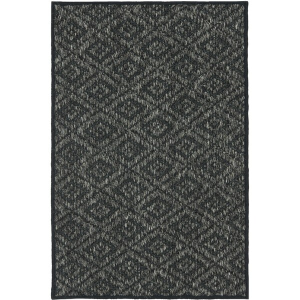 Safavieh Palm Beach Charcoal Grey Sisal Rug (2' x 3')