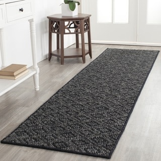 Safavieh Palm Beach Charcoal Grey Sisal Rug (2' x 8')