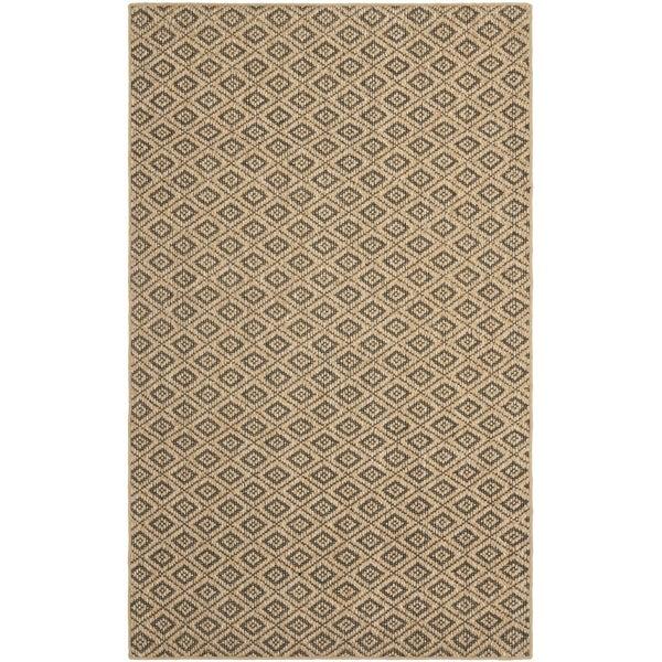 Safavieh Geometric Palm Beach Natural Sisal Rug (8' x 11')