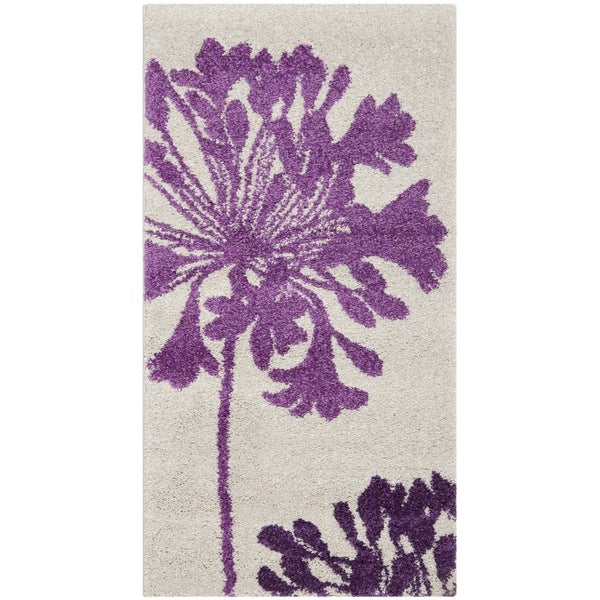 Safavieh Porcello Contemporary Floral Ivory/Purple Rug (2'7 x 5')
