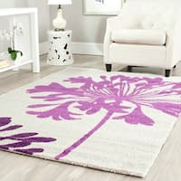 Safavieh Porcello Contemporary Floral Cream/ Berry Purple Area Rug (8' x 11'2)