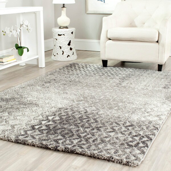 Safavieh Porcello Modern Grey Rug (6'7 x 9'6)