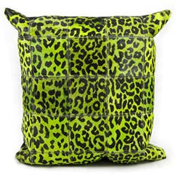 Mina Victory Natural Leather and Hide Leopard Print Green Throw Pillow (20-inch x 20-inch) by Nourison|https://ak1.ostkcdn.com/images/products/7655405/Mina-Victory-Green-Leopard-Print-Natural-Leather-Hide-20-x-20-inch-Pillow-by-Nourison-P15069848.jpg?impolicy=medium
