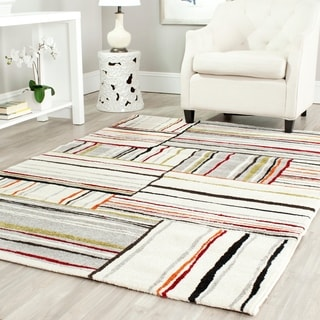 Safavieh Porcello Abstract Ivory/ Multi Rug (6'7 x 9'6)