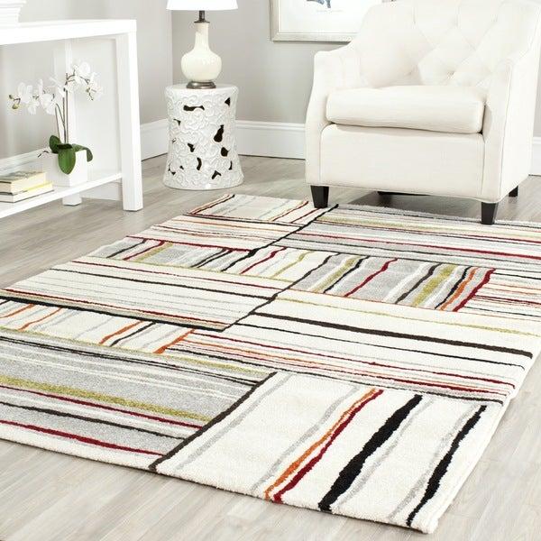 "Safavieh Porcello Ivory/ Orange Rug (8' x 11'2"")"