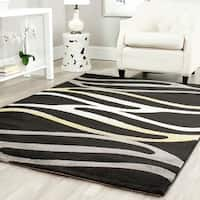 Safavieh Porcello Contemporary Wave Black/ Gold Rug - 5'3 x 7'7
