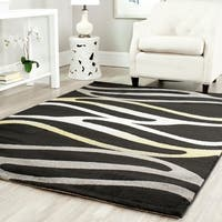 Safavieh Porcello Contemporary Wave Black/ Gold Rug - 6' 7 x 9' 6