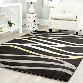 "Safavieh Porcello Contemporary Wave Black Rug (8' x 11'2"")"