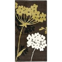 Safavieh Porcello Contemporary Floral Brown/ Green Rug - 2'7 x 5'