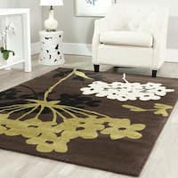 Safavieh Porcello Contemporary Floral Brown/ Green Rug - 4' x 5'7