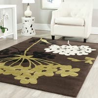 Safavieh Porcello Contemporary Floral Brown/ Green Rug - 5'3 x 7'7