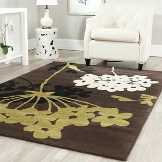 Safavieh Porcello Contemporary Floral Brown Area Rug (8' x 11'2)