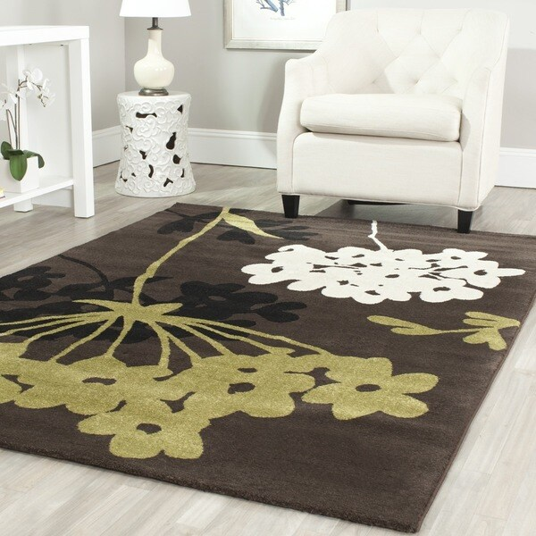 Safavieh Porcello Contemporary Floral Brown/ Green Area Rug (8' x 11'2)