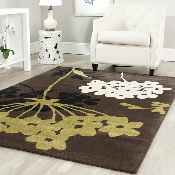 Safavieh Porcello Contemporary Floral Brown/ Green Area Rug - 8' x 11'2
