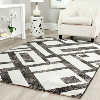 Safavieh Porcello Modern Geometric Black/ Grey Rug (6'7 x 9'6)