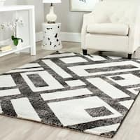 Safavieh Porcello Modern Geometric Black/ Grey Rug - 6'7 x 9'6
