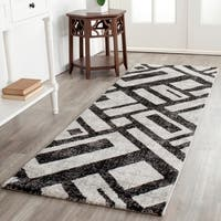 Safavieh Porcello Modern Geometric Black/ Grey Rug - 8' x 11'2""