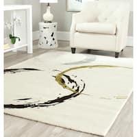 "Safavieh Porcello Contemporary Circles Ivory/ Green Rug - 8' x 11'2"""