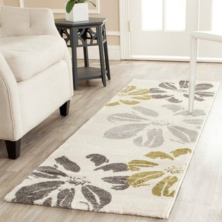 Safavieh Porcello Contemporary Floral Ivory Rug (6'7 x 9'6)
