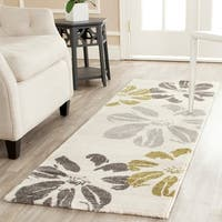 Safavieh Porcello Contemporary Floral Ivory/ Grey Rug - 6'7 x 9'6