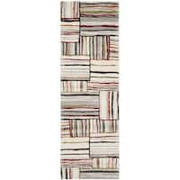 Safavieh Porcello Abstract Ivory/ Multi Runner Rug - 2'4 x 6'7