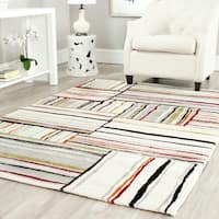 Safavieh Porcello Abstract Ivory/ Multi Rug - 4' x 5'7