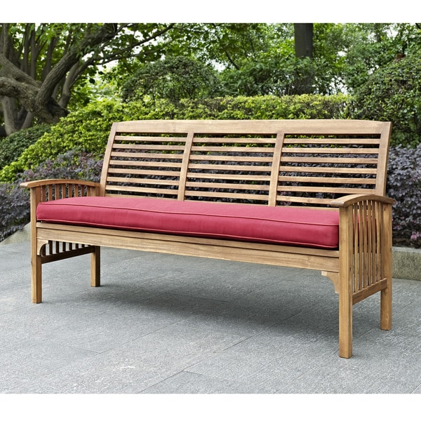 perfect wood bench with cushion