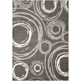"""Safavieh Porcello Contemporary Circles Grey Rug (8' x 11'2"""")"""