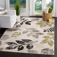 Safavieh Porcello Leaf Print Distressed Ivory/ Gold Rug - 8' x 11'2