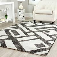 Safavieh Porcello Modern Geometric Black/ Grey Rug - 5'3 x 7'7